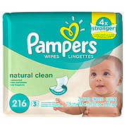 Pampers Natural Clean Baby Wipe Refills