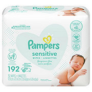 Pampers Sensitive Perfume Free Wipes Refills, 3 PK