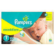Pampers Swaddlers Newborn Diapers 100 ct
