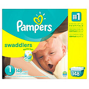 Pampers Swaddlers Newborn Diapers 148 ct
