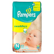 Pampers Swaddlers Newborn Diapers 32 ct
