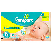 Pampers Swaddlers Newborn Diapers 88 ct