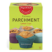PaperChef Multi-Coloured Culinary Pachment Lotus Cups