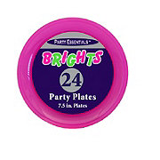 Party Essentials Brights Neon Plates, Assorted Colors