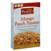Peace Low Fat Mango Peach Passion Clusters and Flakes Cereal