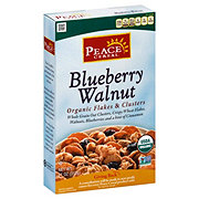 Peace Organic Blueberry Walnut Flakes and Clusters Cereal