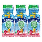 PediaSure With Fiber Strawberry Shake Bottles 6 ct