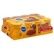 Pedigree Chopped Ground Dinner Beef & Chicken Wet Dog Food Variety Pack