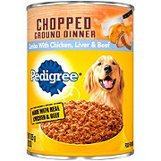 Pedigree Chopped Ground Dinner Chicken Beef & Liver Wet Dog Food