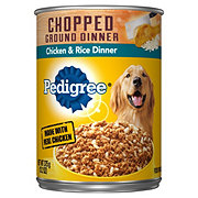 Pedigree Chopped Ground Dinner Chicken & Rice Wet Dog Food