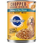 Pedigree Chopped Ground Dinner Chicken & Rice Wet Dog Food