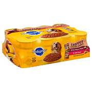 Pedigree Chopped Ground Dinner Filet Mignon & Chopped Beef Flavors Wet Dog Food Variety Pack