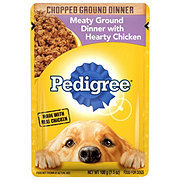 Pedigree Chopped Ground Dinner Meaty Ground Dinner with Hearty Chicken Wet Dog Food