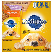 Pedigree Chopped Ground Dinner Wet Dog Food Variety Pack