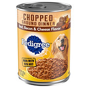 Pedigree Chopped Ground Dinner with Beef Bacon & Cheese Wet Dog Food
