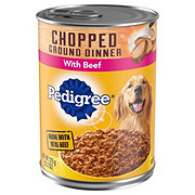 Pedigree Chopped Ground Dinner with Beef Wet Dog Food