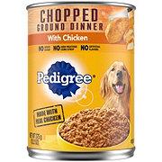 Pedigree ChoppedGround Dinner with Chicken Wet Dog Food