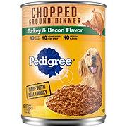 Pedigree Chunky Ground Dinner with Turkey & Bacon Dog Food