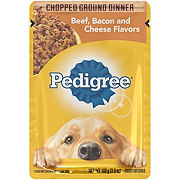 Pedigree Ground Dinner Pouch Beef Bacon And Cheese