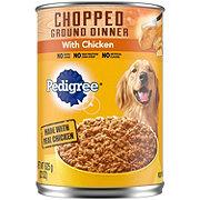 Pedigree Ground Dog Food Dinner, Chopped Chicken Single