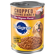 Pedigree Meaty Ground Dinner, Filet Mignon Flavor Dog Food