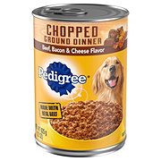 Pedigree Meaty Ground Dinner with Beef, Bacon, and Cheese Dog Food