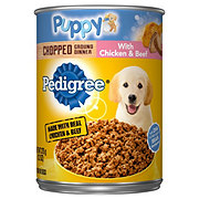 Pedigree Meaty Ground Dinner with Chicken & Beef Puppy Food