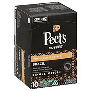 Peet's Coffee Brazil Minas Naturais Medium Roast Single Serve Coffee K Cups