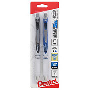 Pentel Energel Pearl Fine Point Black & Blue Retractable Gel Pens