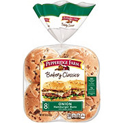 Pepperidge Farm Bakery Classics Onion Hamburger Buns with Poppy Seeds