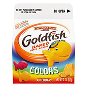 Pepperidge Farm Goldfish Colors Cheddar Baked Snack Crackers Single Serve Carton