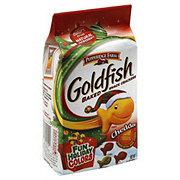 Pepperidge Farm Goldfish Fun Holiday Colors Cheddar Baked Snack Crackers
