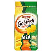 Pepperidge Farm Goldfish Mix Cheddar Parmesan & Zesty Cheddar Baked Snack Crackers