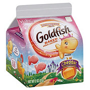 Pepperidge Farm Goldfish Princess Cheddar Baked Snack Crackers Single Serve Carton