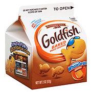 Pepperidge Farm Goldfish Whole Grain Cheddar Baked Snack Crackers Single Serve Carton