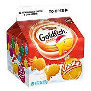 Pepperidge Farm Goldfish Winter Cheddar Baked Snack Crackers Single Serve Carton