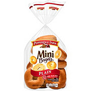 Pepperidge Farm Pre-Sliced Plain Mini Bagels