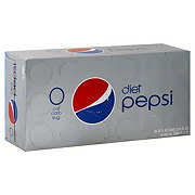 Pepsi Diet Cola 12 oz Cans