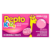 Pepto Kid's Bubblegum Flavor Chewable Tablets