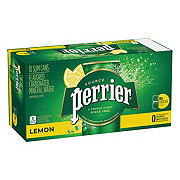 Perrier Lemon Flavored Carbonated Mineral Water 8.4 oz Cans