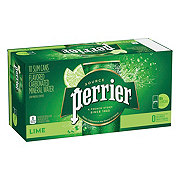 Perrier Sparkling Natural Mineral Lime Water 8.45 oz Slim Cans
