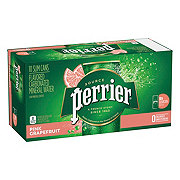Perrier Sparkling Natural Mineral Pink Grapefruit Water 8.45 oz Slim Cans