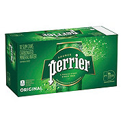 Perrier Sparkling Natural Mineral Water 8.45 oz Slim Cans