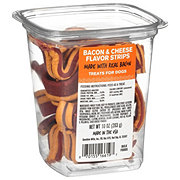 Pet Life Bacon & Cheese Flavor Strips Dog Treats