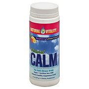 Peter Gillham's Natural Vitality Natural Calm Magnesium Supplement Organic Raspberry-Lemon Flavor