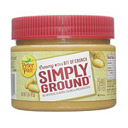 Peter Pan Simply Ground Creamy with a Bit of Crunch Peanut Butter