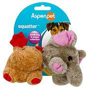 Petmate Aspenpet Squatter Moose & Elephant Small Dog Toys