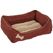 Petmate Burnished Red Rectangular Lounger Pet Bed