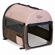 Petmate Intermediate Dark Taupe/Coffee Grounds Brown Portable Pet Home