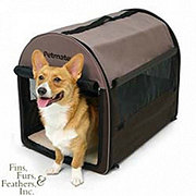 Petmate Medium Dark Taupe/Coffee Grounds Brown Portable Pet Home